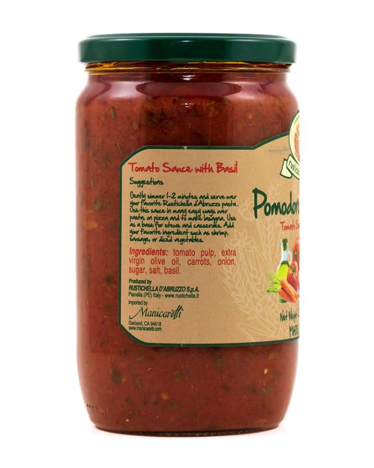 Family Size Tomato Sauce with Basil-sidea